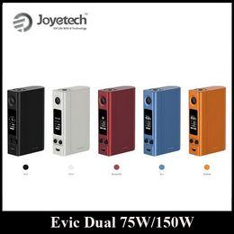 Evic vtc à vendre-Original Joyetech Evic VTC double 75W 150W Box Mod Contrôle de la température avec 510 fil Connecteur Big OLED Display DHL gratuit