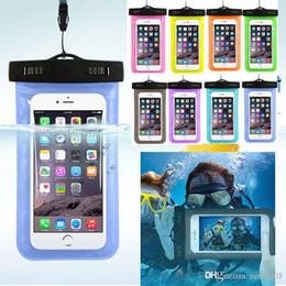 Wholesale caso a prueba de agua universal para la galaxia s7 s6 Iphone S Plus teléfono celular del bolso seco del bolso del teléfono a prueba de agua