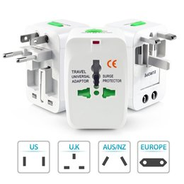 Wholesale Travel Universal Wall Charger AC Power Adapter For Surge Protector International AU UK US EU Plug All in One Chargers