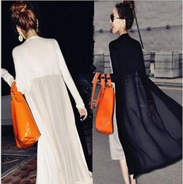 wholesale New Women Modal Chiffon Sheer Long Cardigan Protection Maxi Coat Jacket Sundress