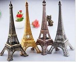 Wholesale 10 inch Eiffel Tower Statue Sculpture Paris Decor Metal Gold silver bronze
