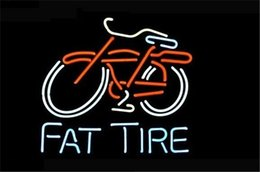 Wholesale NEON SIGN BIG FAT TIRE BICYCLE BIKE LOGO Custom Store Display Beer Bar Pub Club Lights Signs Shop Decorate Real Glass Tube Bulbs