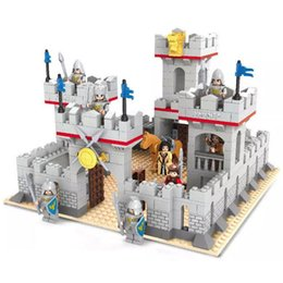 Wholesale Delo toys Plastic building blocks self assembly toys ancient war castle play set boy birthday gift without package box JJ003039