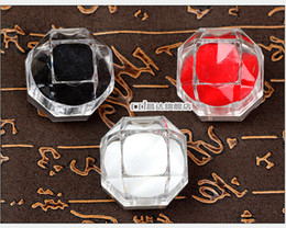 Plastic octagonal ring box pendant jewelry box jewelry box earring cartridge High quality box crazy shopping wholesale