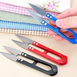 Wholesale Creative Home Furnishing yarn scissors repair cross stitch scissors cut head U g type portable small scissors