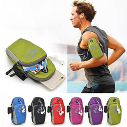 Wholesale 5 Universal Running Riding Nylon Arm Band Case for iphone S Plus s for Samsung Galaxy S6 S7 Edge S5 Note HTC Sport Bag