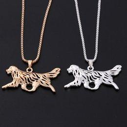 2017 американские собаки Европейский и американский популярный пара ожерелье Loudiao простой сплав собака кулон цепи свитера оптовой американские собаки для продажи
