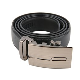 Wholesale Classical Automatic Belt Buckle Genuine Leather Belts Mens Waist Strap Business Casual Hot