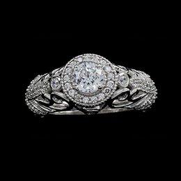 Wholesale 14K White Gold Vintage Antique Art Deco Ct Natural Diamond Engagement Ring