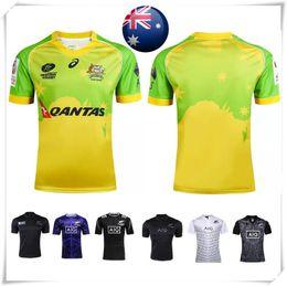 Wholesale With Logo name AIG Super NRL AUSTRALIAN SEVENS Rugby jersey all blacks England football shirt teams Sport