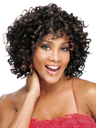 Afro hairstyle Women wig cosplay Hair lady wigs fashion Short curly wig caps Synthetic Wigs High temperature Female Wig SW014