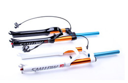 Wholesale mtb bike air suspension forks Alloy bicycle forks disc brakes aluminum magnesium fork