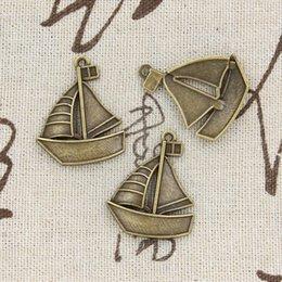 Wholesale 50pcs Charms ship boat mm Antique Making pendant fit Vintage Tibetan Bronze DIY bracelet necklace