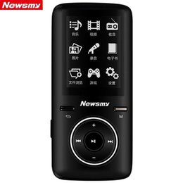 Wholesale 2015 Original Newsmy GB A33 MP3 player High Quality lossless audio Player FM Mini Screen Lovely Fever Music MP3 WMA WAV FLAC