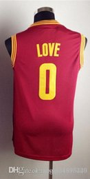 Wholesale 2016 New Best Quality Kevin Love shirt Dark Blue Red Yellow New Material Embroidery Basketball shirts Size S XL