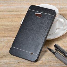 Wholesale Para mayor Nokia Lumia N640 caso de la alta calidad de la manera dura del metal de aluminio plástico teléfonos Fundas de la contraportada de JD