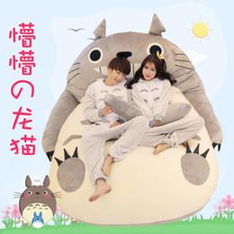 Wholesale 1 M M Single bed Plush Toy Tatami Mattress Lovers Gift Animals Mattress Cartoon Totoro Bed For Adult Styles Memory Foam Mattress