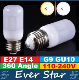 Promotion ampoule g9 conduit NOUVEAU Led Ampoules E27 E14 GU10 G9 SMD 5730 LED Ampoules 7W 12W 15W 18W 20W 21W Led maïs Lumières AC 110-240V