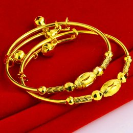 Gold bracelet baby gold bracelet 999 gold plated bracelet really simulation package gold bracelets Baby Bells gifts