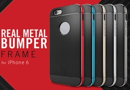 SGP Korean Brand New Neo Hybrid Electroplate Metal Bumper Cell Phone Case Soft TPU Aluminum Frame Cell Phone Cover for iphone6S 6plus