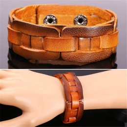 U7 Soft Genuine Leather Bracelet High Quality New Fashion Unisex Jewelry Accessories Perfect Gifts Resizable Leather Bracelets