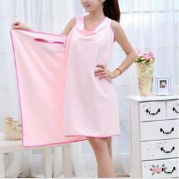 Wholesale 1 Adult Bath Towel Wearable Fast Drying Microfiber Bathrobes Necessary Bathing Accessories Beach Spa Bathrobes Bath Skirt