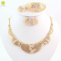 Jewelry Set For Women Gold Plated Necklace Sets Wedding Party Gift Bridal African Costume Jewelry Sets