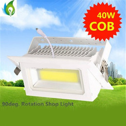 Wholesale 40W Down Lights V Square LED Rectangular Shop Lamp with White Case built in driver internal power supply OED DL W