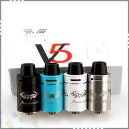Wholesale Indulgence Mutation X V5 RDA Atomizer Clone Post less Deck Velocity Style Dual Post Deck colors Fit Mods DHL Free