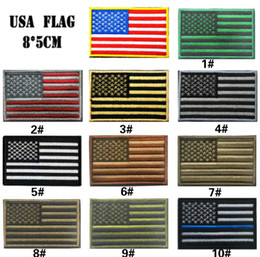 GPF-024 3.15 inch 3D Embroidered Pacthes with magic tape Multicolour American Flag Outdoor Army Armband patch Sew On Patch spersonality