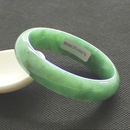 New China traditional Natural Myanmar Jadeite Bangle Jade Bracelet Ice waxy kind Light Green for women 80667016974