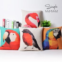 Wholesale Red Black CUCKOO Birds Collection Art Classic Decorative Pillow Case Cover Euro Pillows Travel Emoji Home Decor Vintage Gift