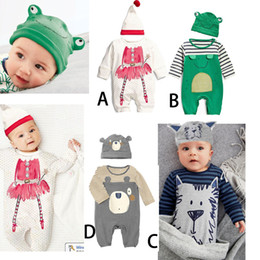 Wholesale 2016 Boys Animal Jumpsuits Outfits Infant Boys Lion Frog Onesies Sportwear Fall Kids Striped Cotton Bodysuits Rompers Baby Boy Clothes