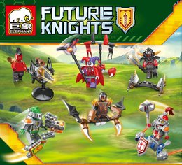 Wholesale 2016 Elemental Knights Online Building blocks Minifigures Castle Viking king Action figures Assemblage toys for children s gifts set