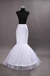 Cheap One Hoop Flounced Mermaid Petticoats Bridal Crinoline For Mermaid Wedding Prom Dresses Weddding Accessories CPA201