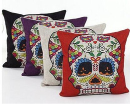 2016 hot sale skull red black purple white pillow skull emoji pillow massager decorative pillows home decor euro cover gift