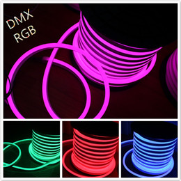 50M 14x26mm DC12V RGB LED Neon Flex SMD5050 LED Flexible Neon Tube Light Festival Building Decoration Lighting Neon Shop Sign