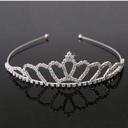 Freeshipping New Cute Children Kids Girls Rhinestone Princess Hair Band Crown Headband tiara hair jewelry wedding accessories