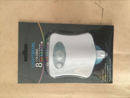 Wholesale Body Sensing Motion Sensor Automatic LED Night Lights Toilet Bowl Bathroom Lamps Red Green Light W LED