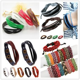 Wholesale Fashion Jewelry Wholesale Leather Braided Infinity Multilayer Bracelet Hemp Lover's Wristband Statement Jewelry Factory price