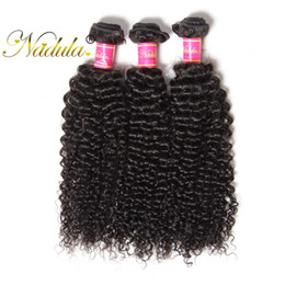 Nadula Brazilian Curly Hair Bundles 3Bundles 100% Human Hair Extension Weave Remy Hair Wefts Machine Double Weft Wholesale Cheap