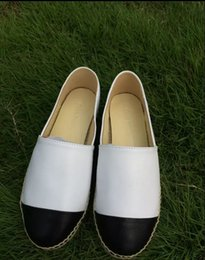 Wholesale 2016 trend luxury minimalist Women Genuine Leather Espadrilles Brand Designer Fashion Flats Loafers Shoes Woman high quality Casual Shoes pl