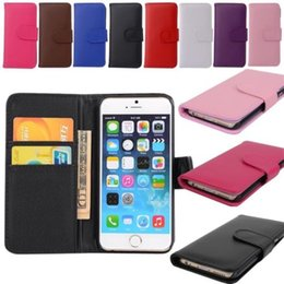 For Apple iPhone 4 4S 5 5S 6 6s 6+ 6s+ Samsung Galaxy S3 4&mini S5 6 6E 6E+Note2 3 4 5 New Wallet Flip PU Leather Case Cover