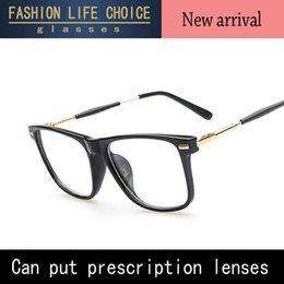 Descuento gafas de diseño fresco 2015 Las NUEVAS lentes llanas del diseñador de la marca de fábrica de las mujeres de los vidrios de la pierna del metal de la vuelta retro refrescan el marco Oculos De Grau de los vidrios