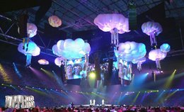 Free shipping diameter 3m inflatable cloud for event decoration