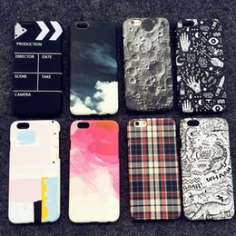 New Vintage Retro Creative case For iphone6 6s plus Apple iphone 5 5s SE moon grid phone shell