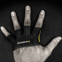 Wholesale-Training 4 fingers glove Weight lifting corssfit barbell support Man fitfour palm protect dumbbell