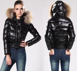 Wholesale Top quality France Designers Women s Thicken Down Jackets long sleeved big fur collar filled winter coat Parka Lady Down Coat