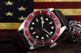 Wholesale Hot sellingTop brand super luminous mens watch automatic movement black bay driver sapphire glass watch leather strap