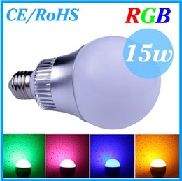 YON 1PCS LOT CREE 9W 15W E27 (B22  GU10 E14) RGB Led Lamp Bulb AC85-265V CE RoHS 16 Colors Changing with Remote,Free Shipping